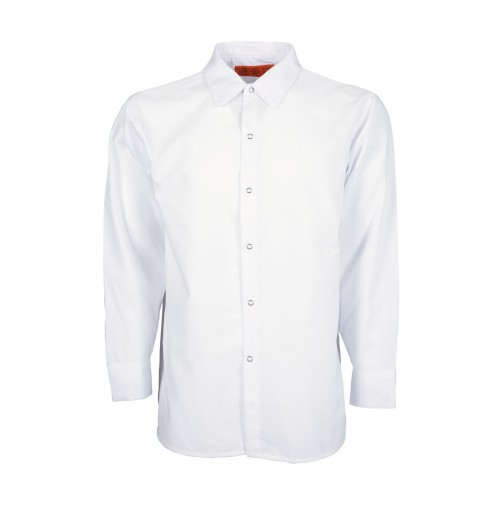 S14WH Men's Long Sleeve Work Shirt, White