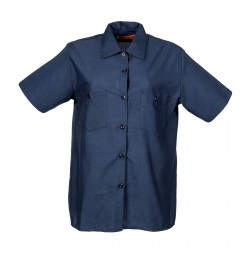 Women's Short Sleeve Work Shirt, Navy Blue