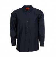 S50DN Men's Cotton Work Shirt, Navy Blue