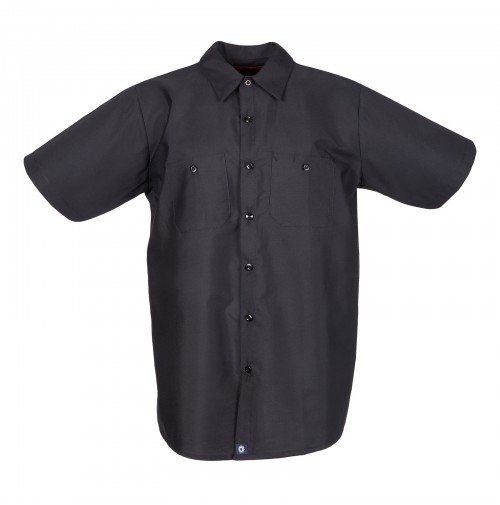 S12BL Men's Short Sleeve Black Industrial Work Shirt