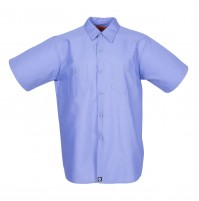 S12GB Men's Short Sleeve Gulf Blue Industrial Work Shirt