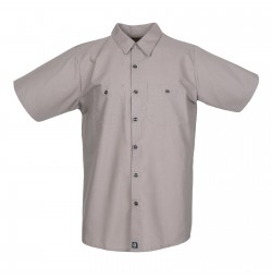 S12GG Men's Short Sleeve Graphite Grey Industrial Work Shirt