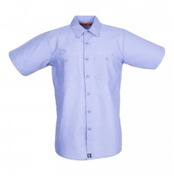 S12LB Men's Short Sleeve Light Blue Industrial Work Shirt