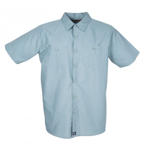 S12MG Men's Short Sleeve Mint Green Industrial Work Shirt