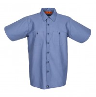 S12PB Men's Short Sleeve Postman Blue Industrial Work Shirt