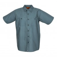S12SP Men's Short Sleeve Spruce Green Industrial Work Shirt