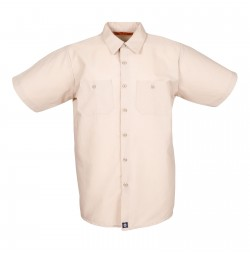 S12TA Men's Short Sleeve Tan Industrial Work Shirt