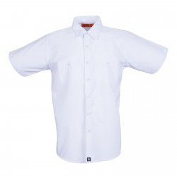 S12WH Men's Short Sleeve White Industrial Work Shirt