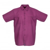 S12WI Men's Short Sleeve Wine Industrial Work Shirt