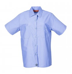 Women's Short Sleeve Work Shirt, Gulf Blue