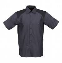 Motorsport Short Sleeve Work Shirt, Charcoal with Black