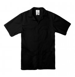 Professional Zip Front Shirt, Black