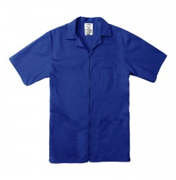 Professional Zip Front Shirt, Royal Blue