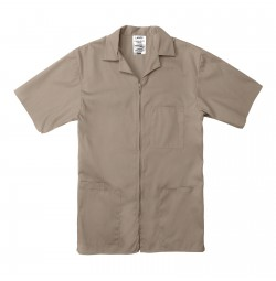 Professional Zip Front Shirt, Tan