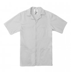 Professional Zip Front Shirt, White