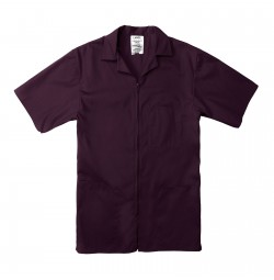 Professional Zip Front Shirt, Wine