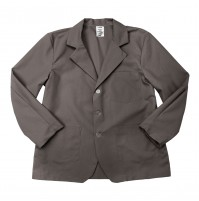 Lapel Counter Coat, Graphite Grey