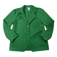 Lapel Counter Coat, Kelly Green