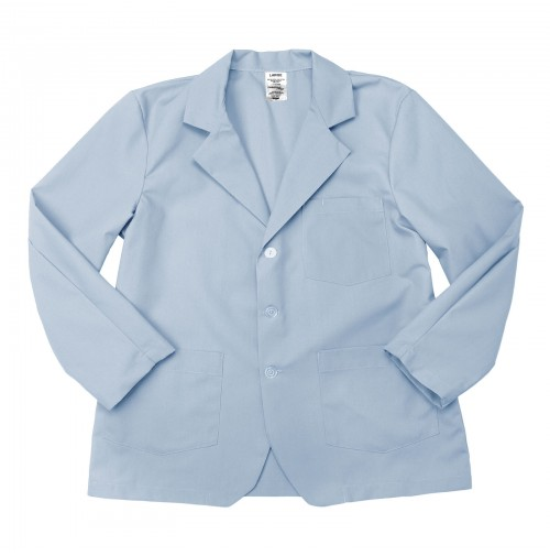 Lapel Counter Coat, Light Blue