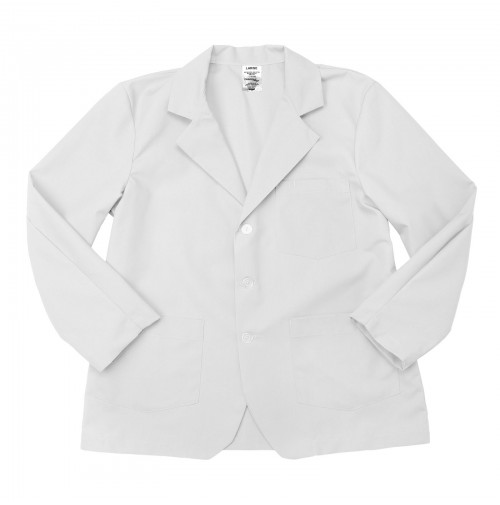 Lapel Counter Coat, White