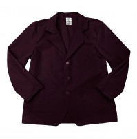 Lapel Counter Coat, Maroon