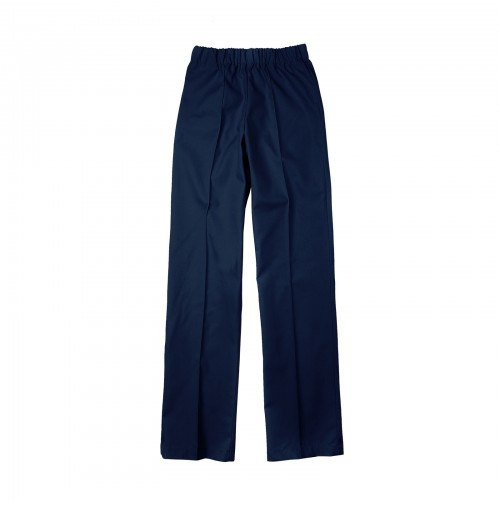 Ladies Elastic Work Pant, Navy Blue