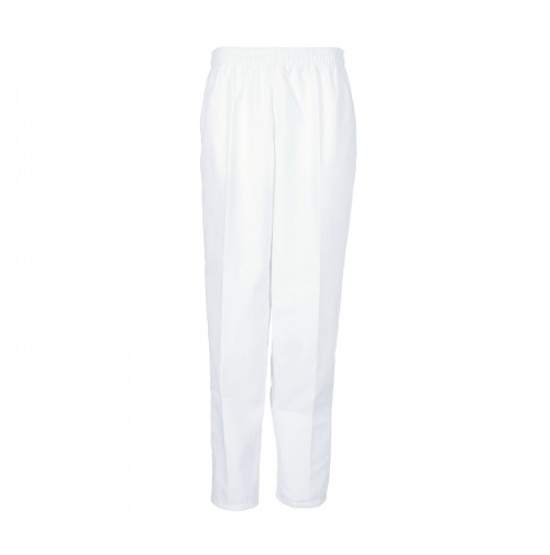 Ladies Elastic Work Pant, White