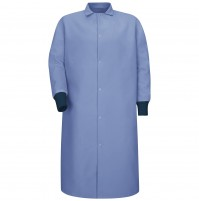 Red Kap® KS60LB Pocketless Light Blue Butcher Coat with Knit Cuffs