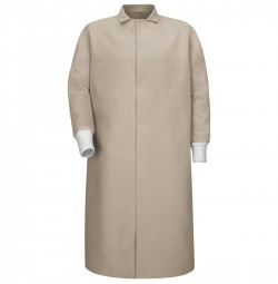 Red Kap® KS60TN Pocketless Tan Butcher Coat with Knit Cuffs