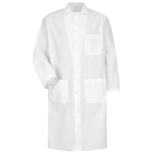 Red Kap® KS64WH Gripper Front White Butcher Coat