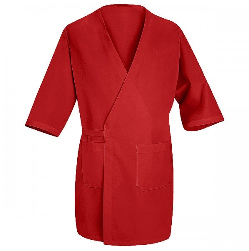 Red Kap® WP10RD Red Collarless Butcher Wrap