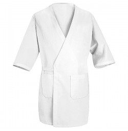 Red Kap® WP10WH White Collarless Butcher Wrap