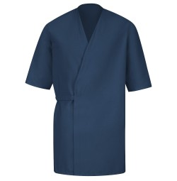 Red Kap® WP18NV Navy Collarless Butcher Wrap