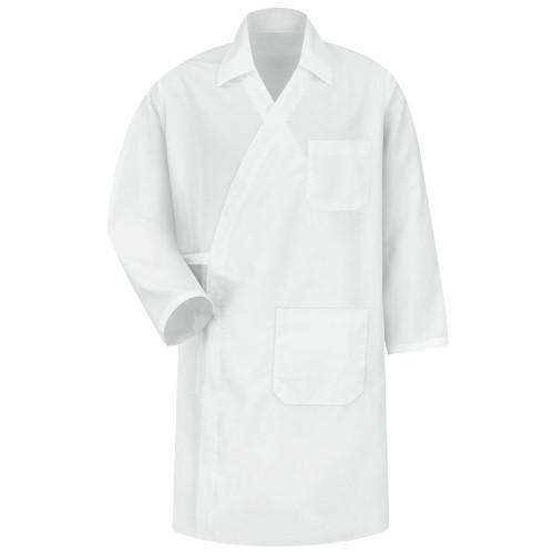Red Kap® WS40WH Long Sleeve Butcher Wrap -Interior Pockets