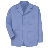 Red Kap KP10LB Men's Light Blue Lapel Counter Coat
