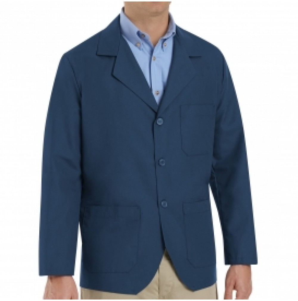 Red Kap Kp10nv Men S Navy Lapel Counter Coat