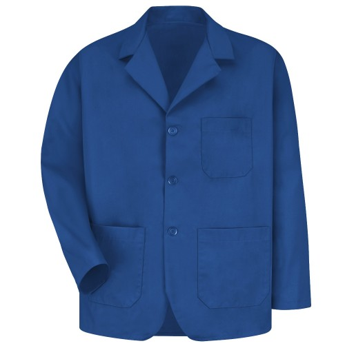 Red Kap KP10RB Men's Royal Blue Lapel Counter Coat
