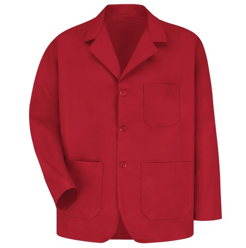 Red Kap KP10RD Men's Red Lapel Counter Coat