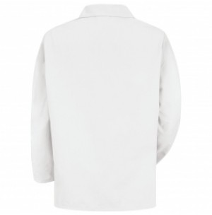 Red Kap KP10WH Men's White Lapel Counter Coat