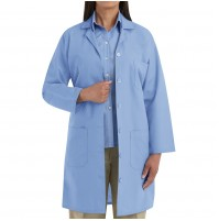 Red Kap KP13LB Women's Button Front Lab Coat, Light Blue