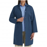 Red Kap KP13NV Women's Button Front Lab Coat, Navy