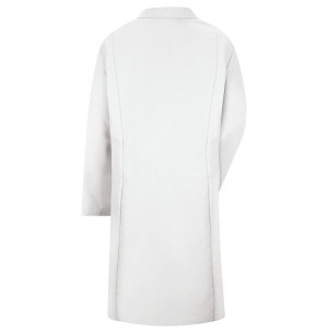 Red Kap KP13WH Women's Button Front Lab Coat, White