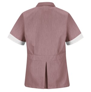 Red Kap 9S03BU Women's Burgundy Double-Breasted Lapel Tunic
