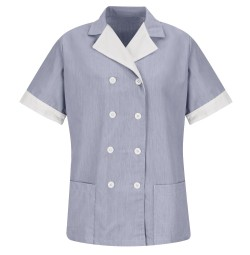 Red Kap 9S03NV Women's Navy Double-Breasted Lapel Tunic