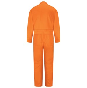 Red Kap CC14OR Snap Front Cotton Coveralls, Orange