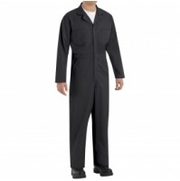 Red Kap CT10BK Twill Action Back Coveralls, Black