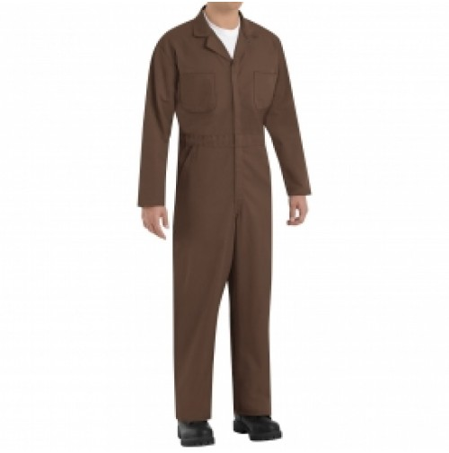 Red Kap CT10BN Twill Action Back Coveralls, Brown