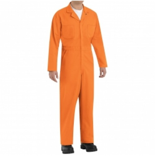 Red Kap CT10OR Twill Action Back Coveralls, Orange