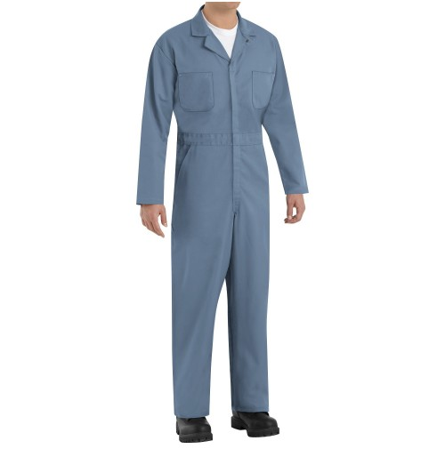 Red Kap CT10PB Twill Action Back Coveralls, Postman Blue