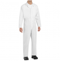 Red Kap CT10WH Twill Action Back Coveralls, White